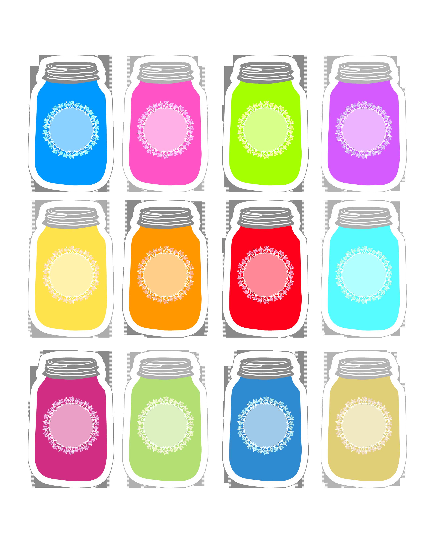 Jar clipart printable. Thecottagemarket masonjartags sheet png