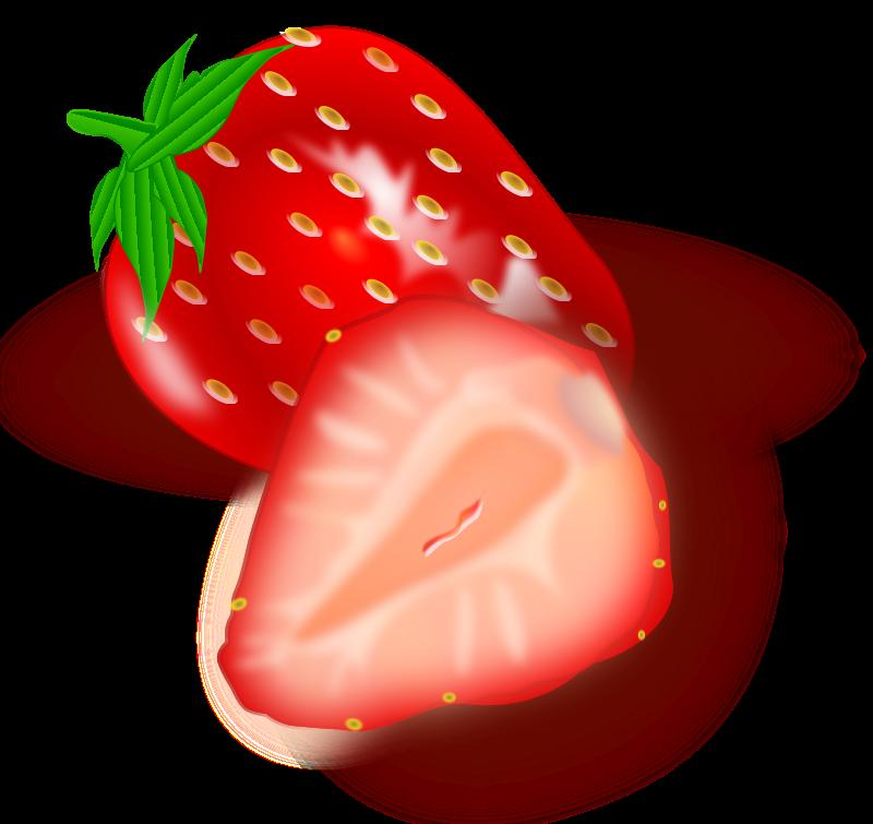 Strawberries clipart splash. Free stock photo illustration
