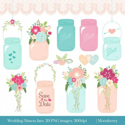 Jar clipart wedding. Mason clip art