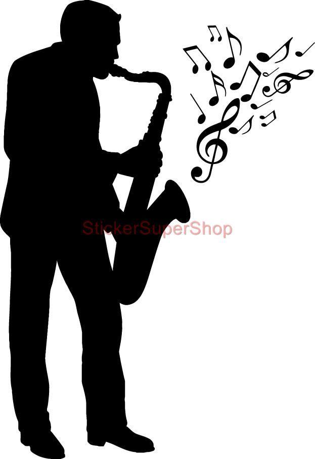 Jazz silhouette clip art. Musician clipart retro music