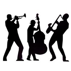 Jazz clipart. Wall decals sax player
