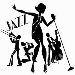 Jazz clipart. Silhouette clip art at