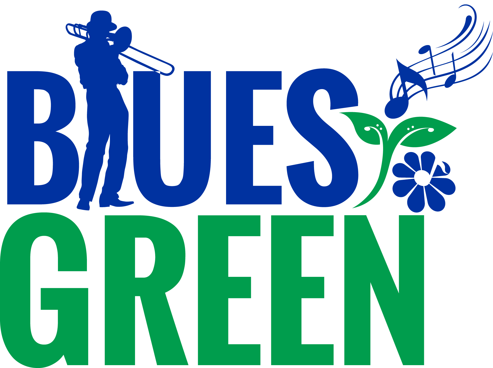 To green logo. Jazz clipart blues music