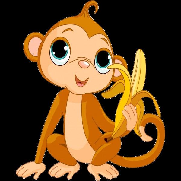 Jazz clipart cartoon. Cute funny baby monkey