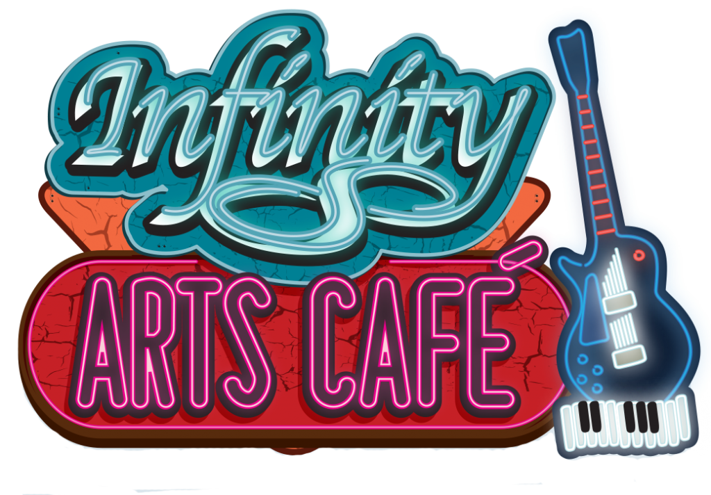 Jazz at infinity visual. Poetry clipart reading cafe