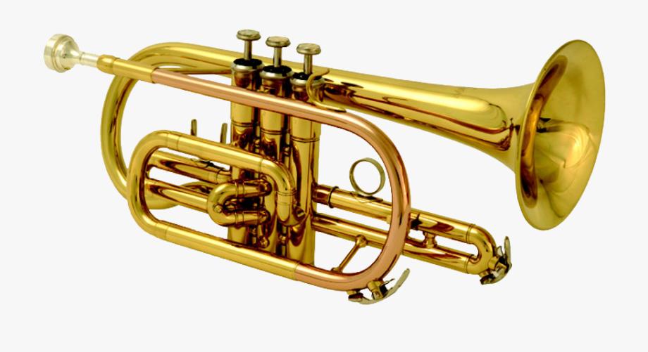 Brass band instruments png. Jazz clipart cornet