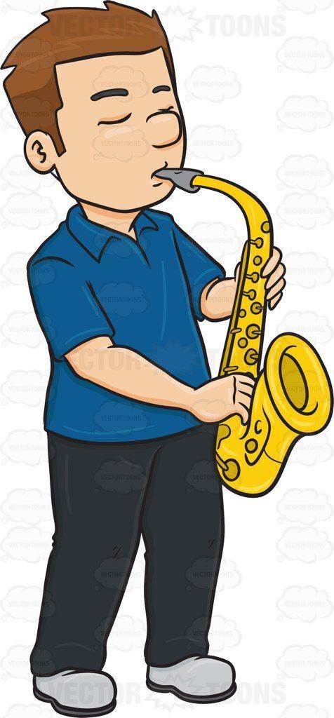 Jazz clipart instrumentalist. A man in serious