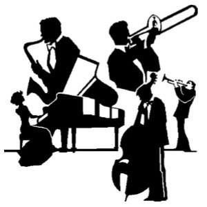 Jazz clipart instrumentalist. Music by the lake