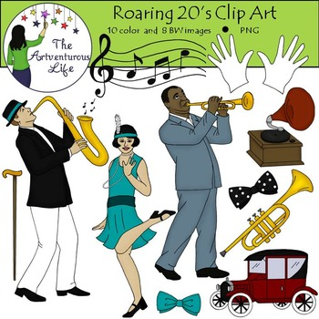 Roaring s and clip. Jazz clipart jazz age