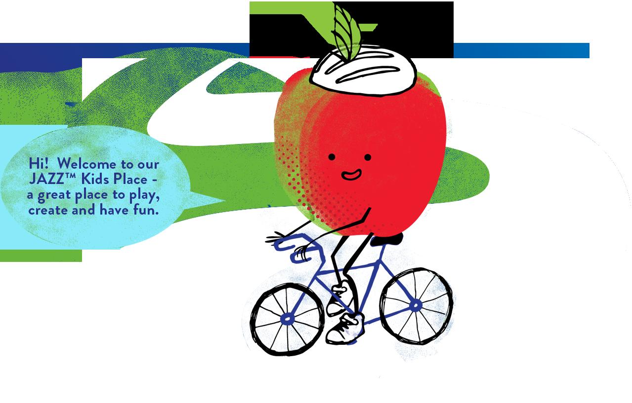 Jazz clipart jazz age. Kids apple