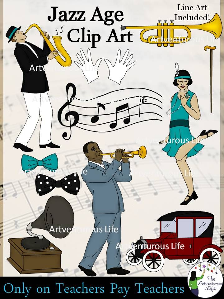 Jazz clipart jazz age. Roaring s and clip