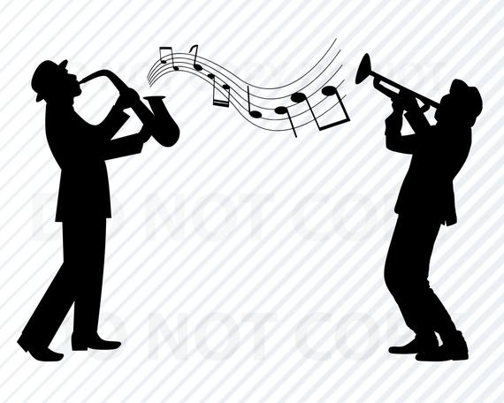 Svg files for cricut. Jazz clipart jazz band