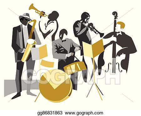 Vector illustration eps gg. Jazz clipart jazz band