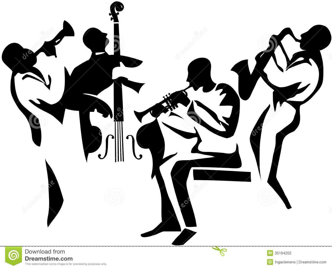 Jazz clipart jazz combo. Pin on musicians