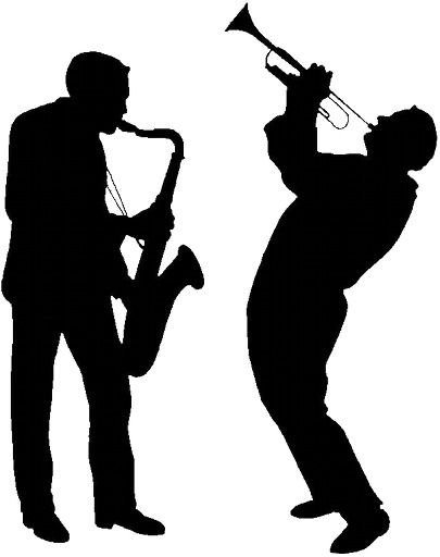 Gallery for musician silhouette. Jazz clipart jazz combo