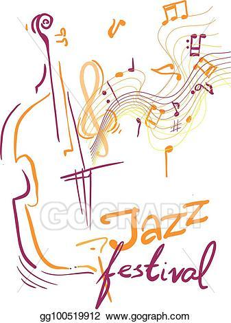 Vector stock clip art. Jazz clipart jazz festival