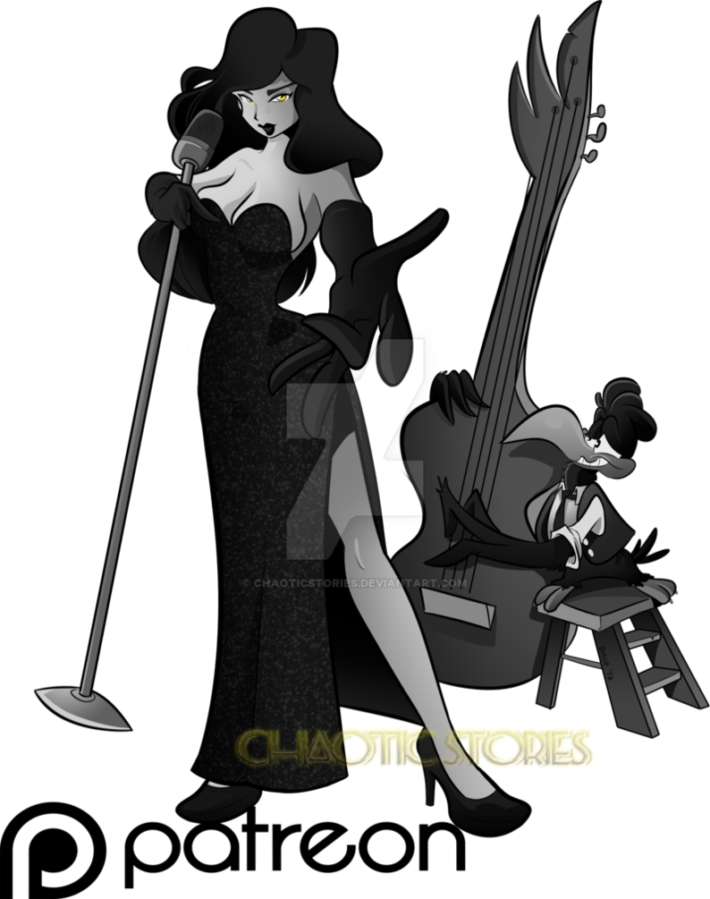 Singing raven by chaoticstories. Jazz clipart jazz singer