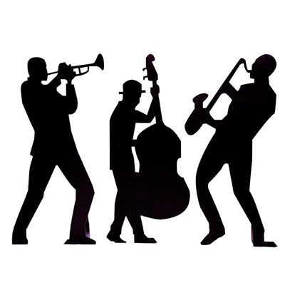 Back in time band. Jazz clipart jazz trio
