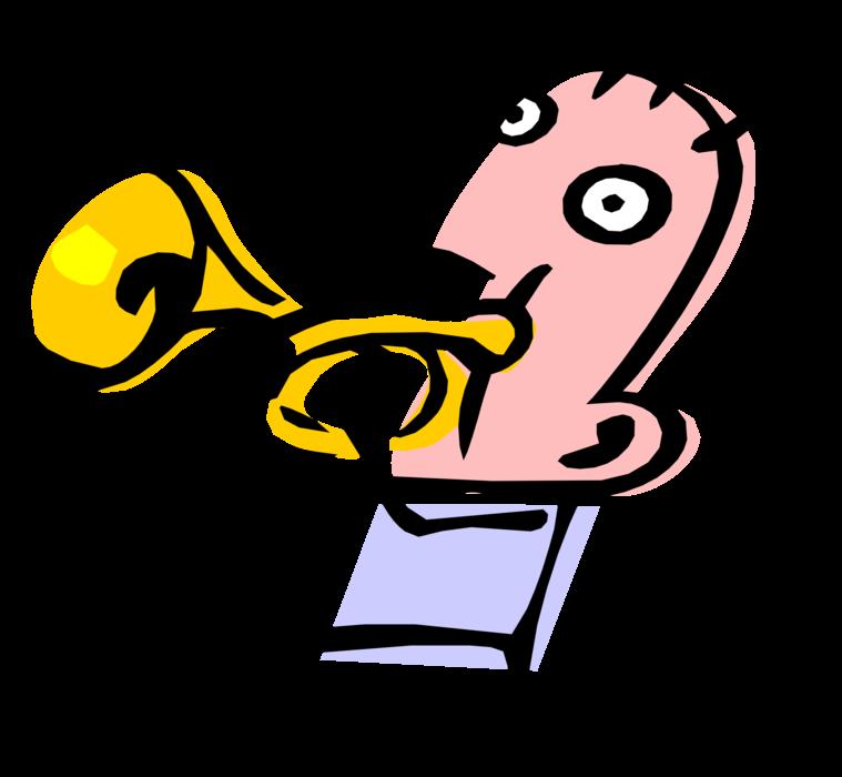 Jazz clipart muscian. Musician plays trumpet vector