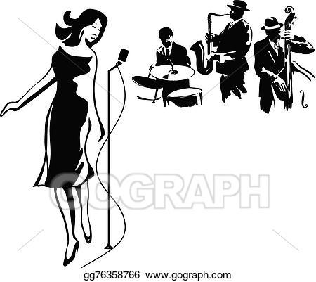 Eps illustration performance vector. Jazz clipart muscian