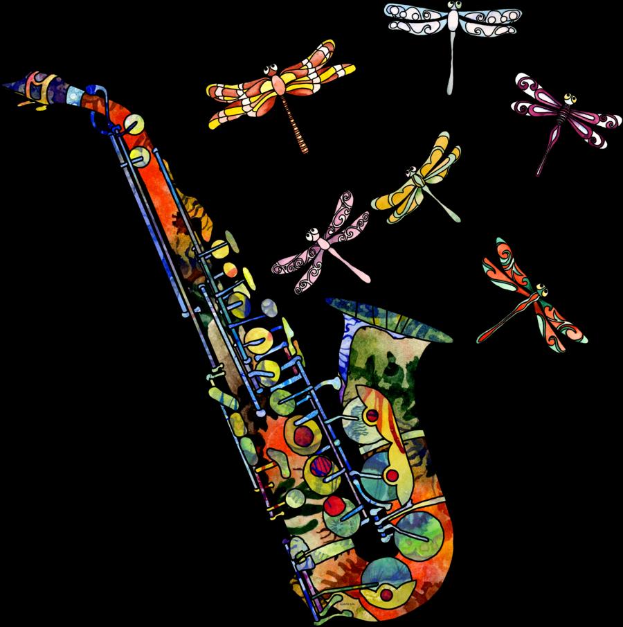 Jazz clipart musical night. Art painted sax google