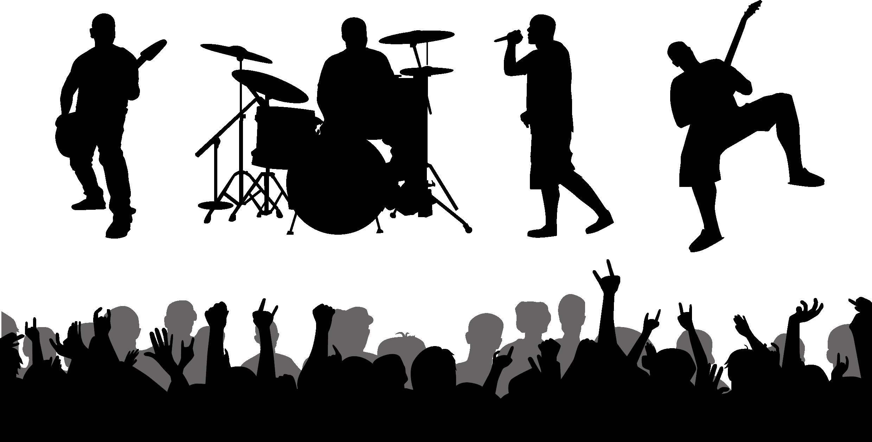 Musical clipart music performance. Ensemble silhouette clip art