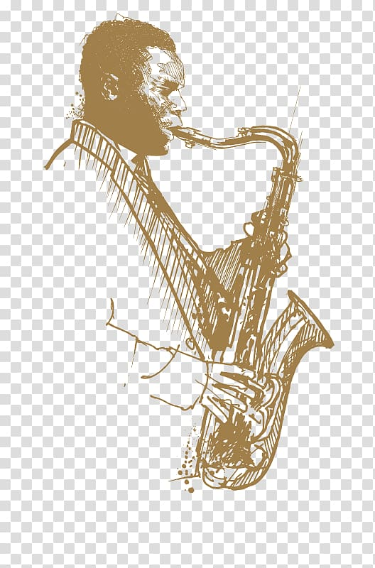 Man playing saxophone illustration. Jazz clipart smooth jazz