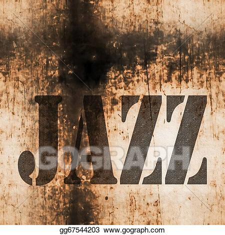 Jazz clipart word. Music old rusty wall