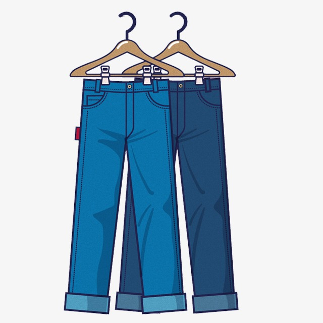 Hand painted men s. Jeans clipart