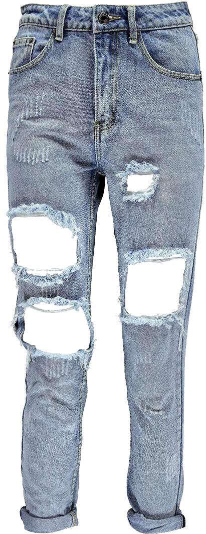 Unisex pants ripped rip. Jeans clipart denim