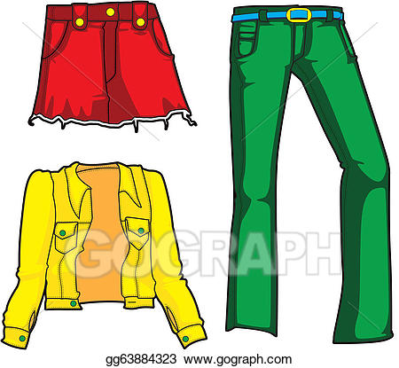 Jeans clipart green pants. Stock illustration denim fashion