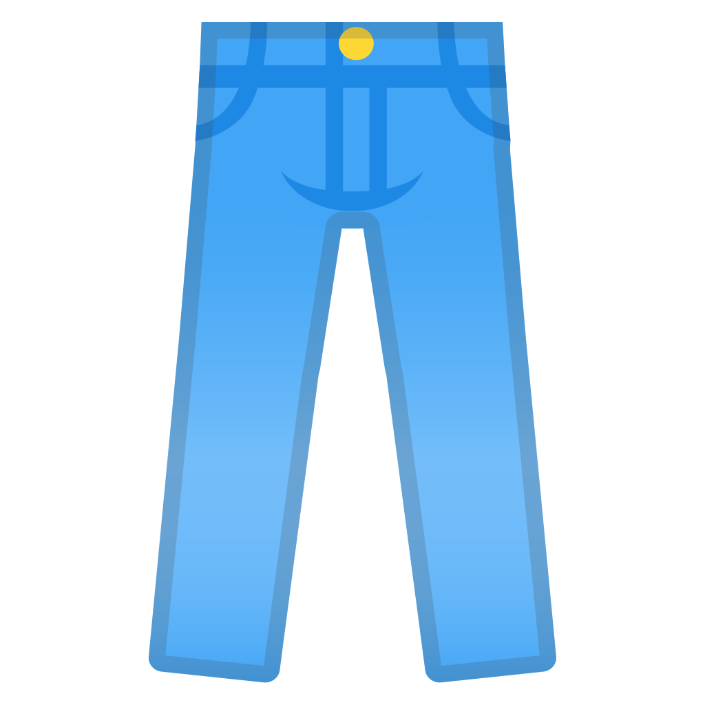 Icon noto emoji clothing. Jeans clipart green pants