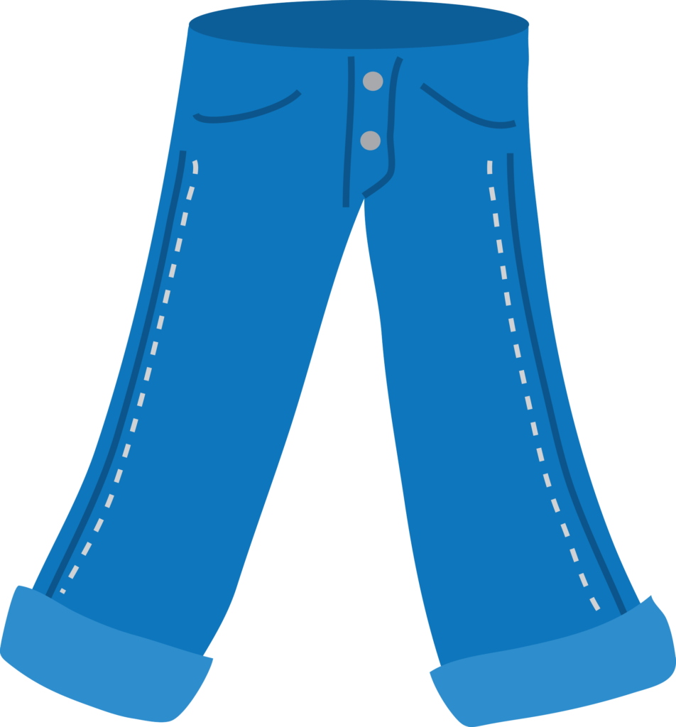 Jeans clipart long pants. Denim day stock photography