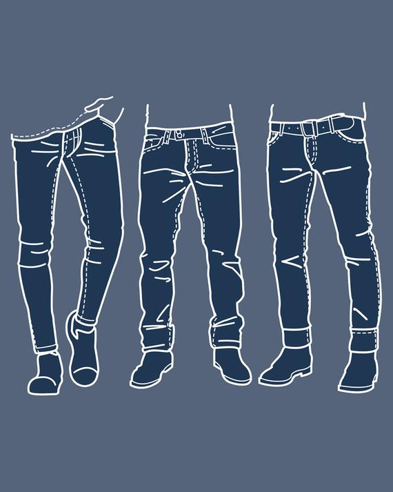Fashion collection of men. Jeans clipart mens jeans