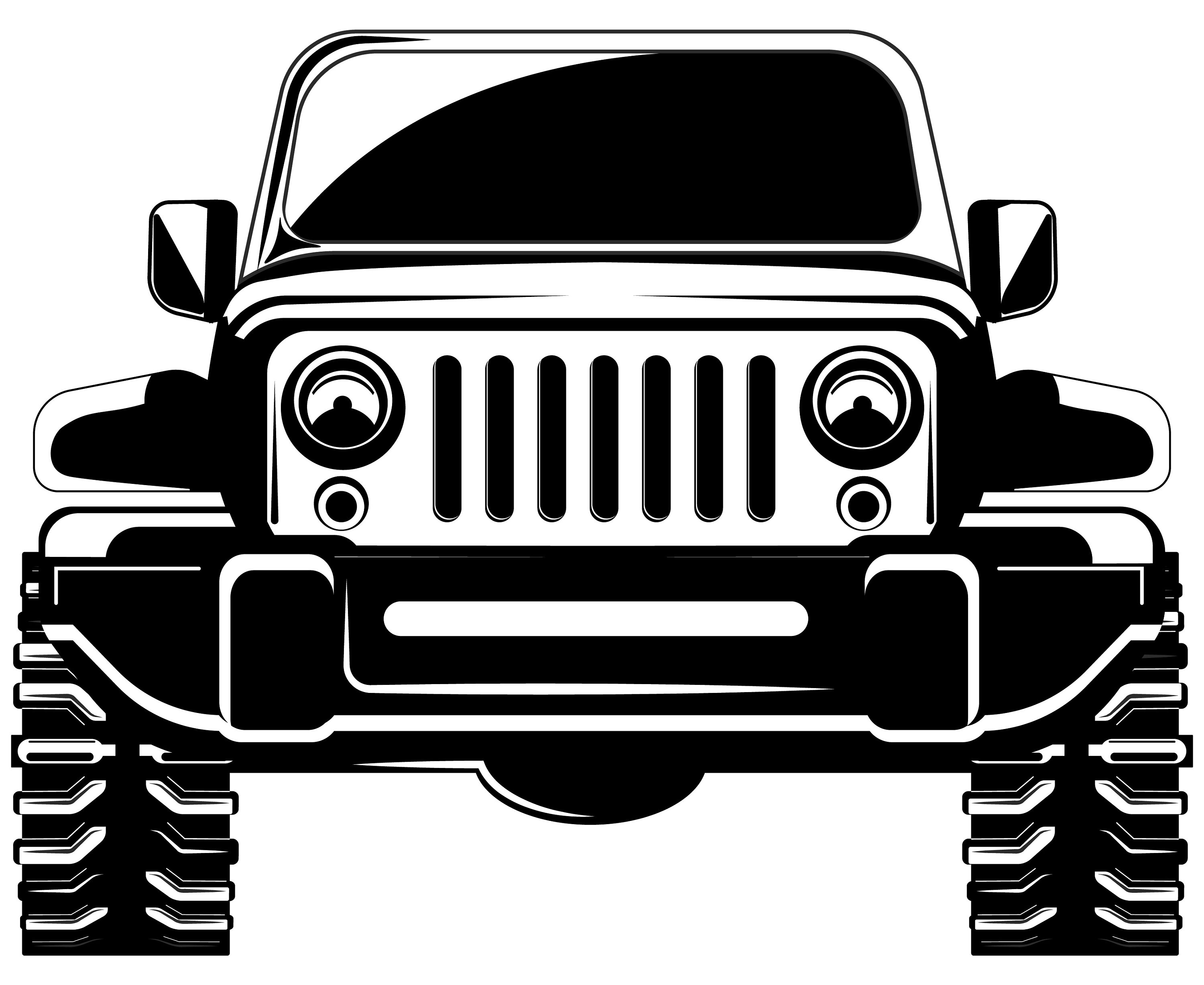 Svg x front view. Jeep clipart