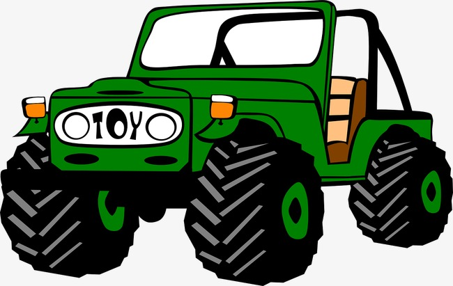 Jeep clipart. Green four wheel drive