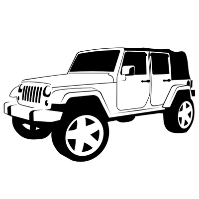Free and vector graphics. Jeep clipart