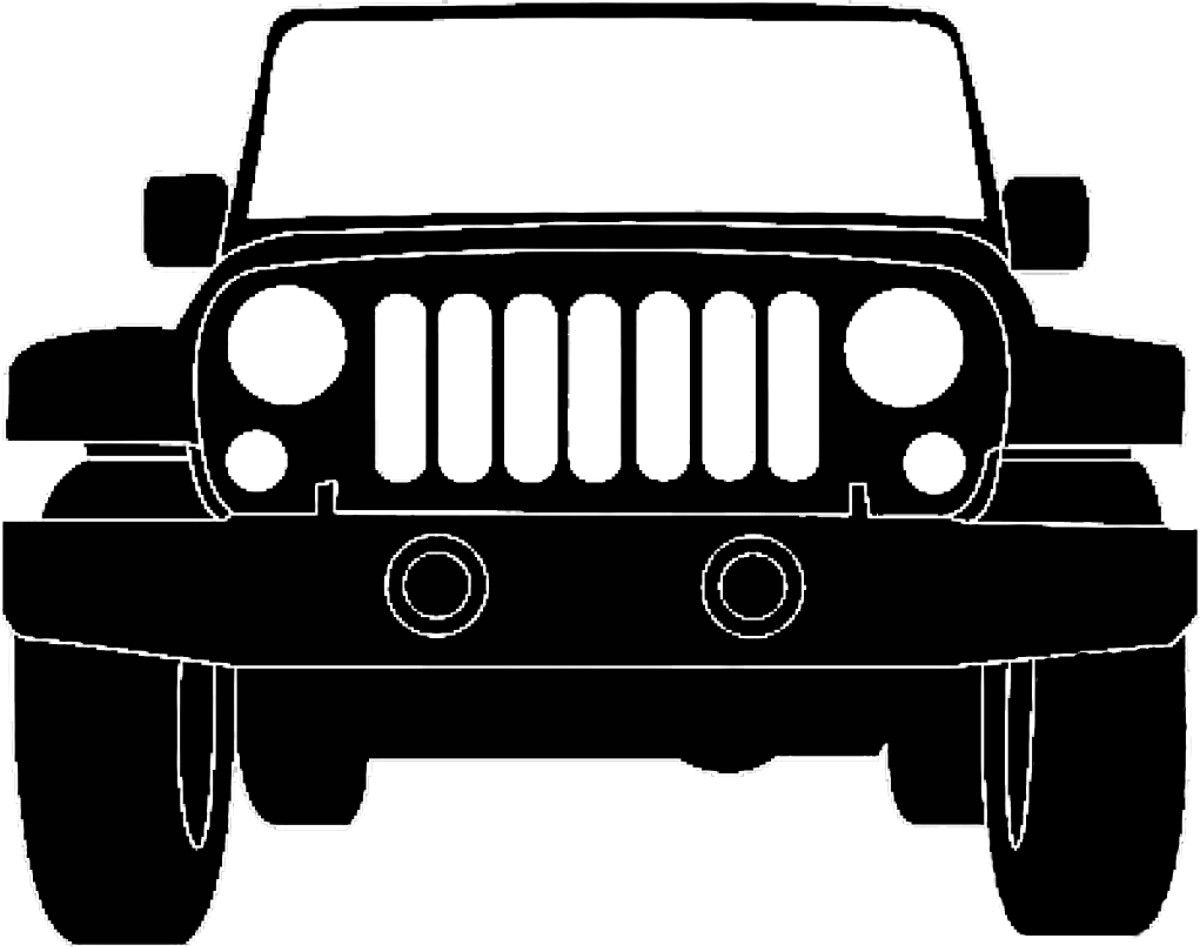 Jeep clipart black cake. Silhouette illustration grill