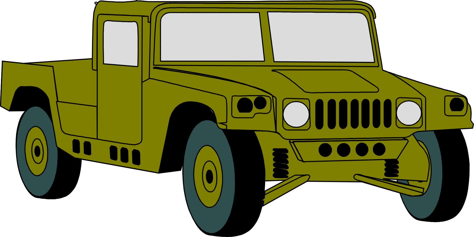 Military clipart jeep army. Humvee hummer vehicle clip