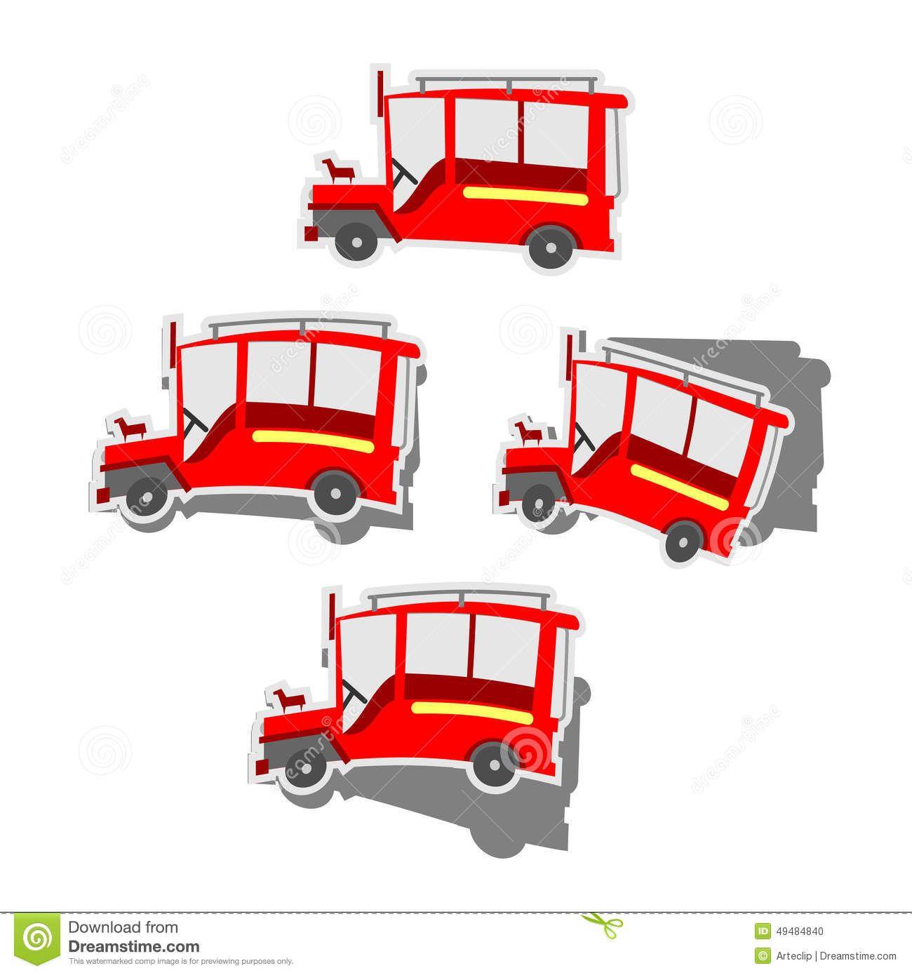Philippine jeepney sticker set. Jeep clipart pilipino