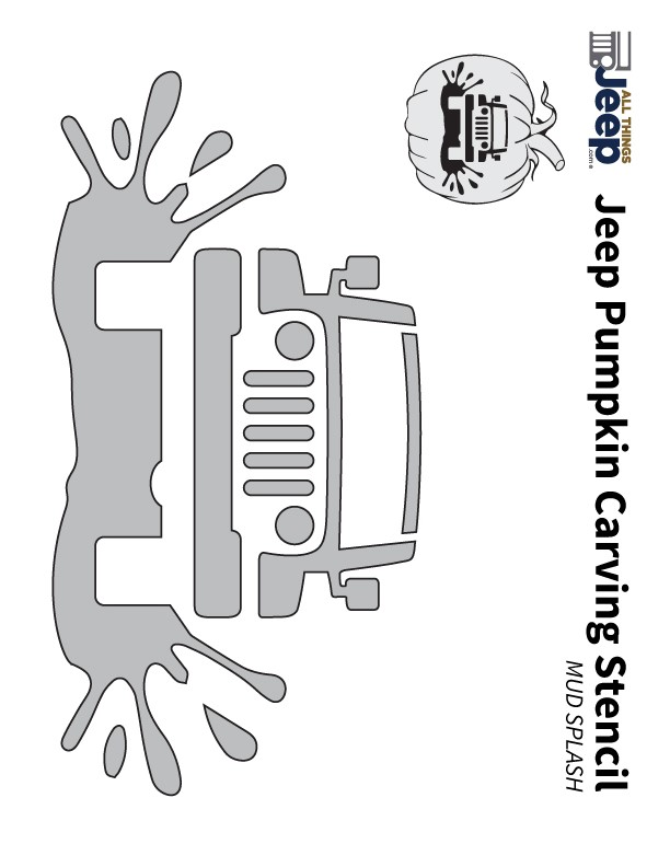 Jeep clipart pumpkin carving. Stencil nic gifts