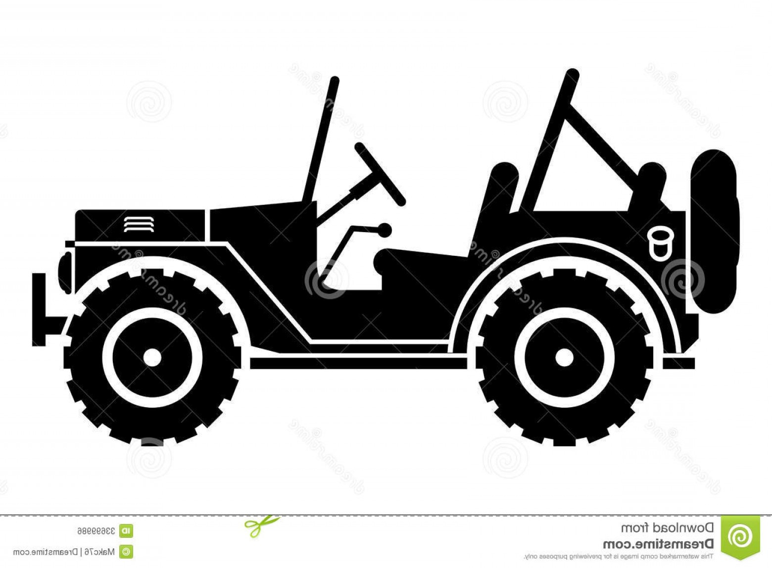 Royalty free stock image. Jeep clipart side view