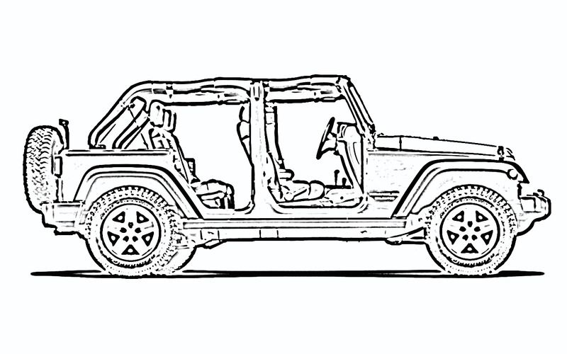 Looking for a particular. Jeep clipart side view