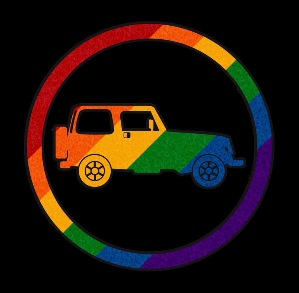 Jeep clipart vector. Rainbow icon by lovemystarfire