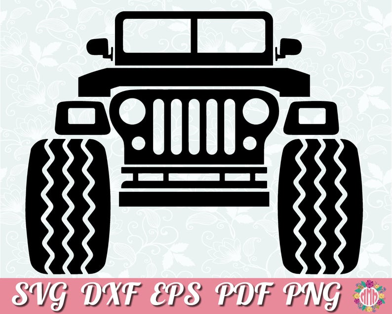Jeep clipart vinyl decal. Cut file design svg