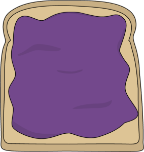 Jelly clipart. Toast and