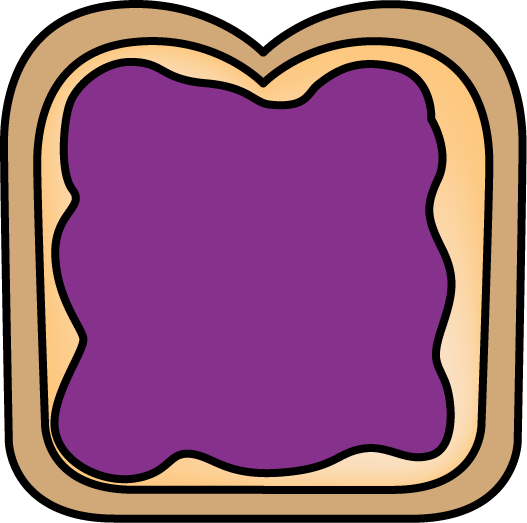 With jelly clip art. Bread clipart sandwich bread