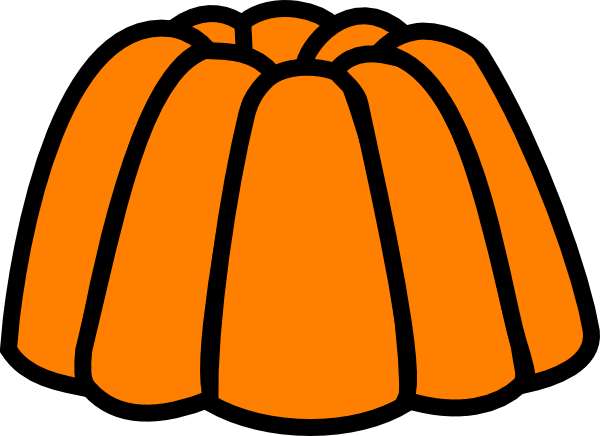 Orange clip art at. Jelly clipart