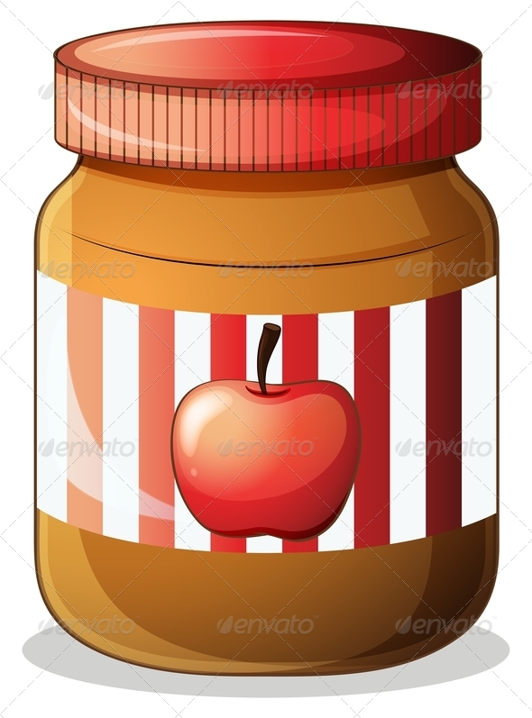 Jam isolated vectors from. Jelly clipart apple jelly