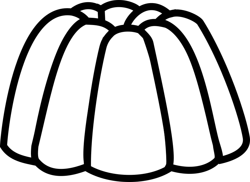 collection of pudding. Jelly clipart black and white